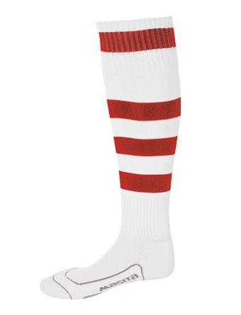 Socks Striped Barca  White / Red