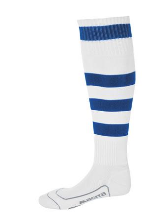 Socks Striped Barca  White / Royal Blue