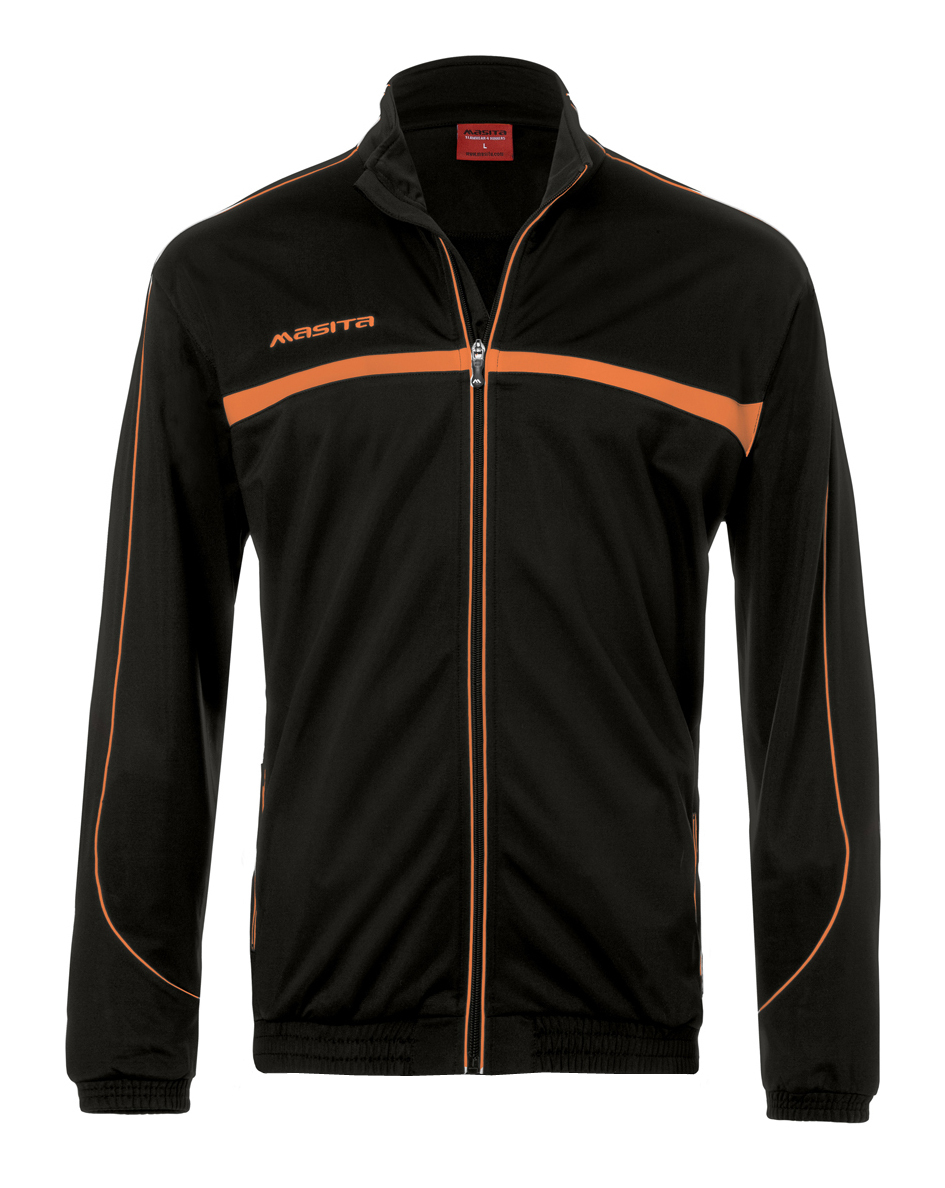 Polyester Jacket Brasil  Black / Orange