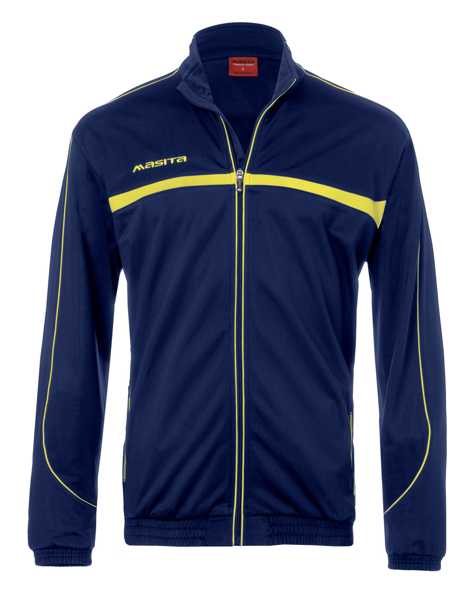 Polyester Jacket Brasil  Navy Blue / Yellow