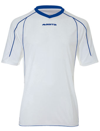 SportShirt Striker  White / Royal Blue