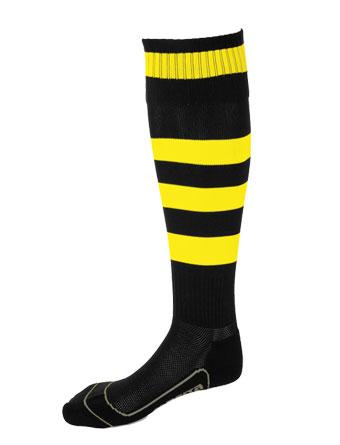 Socks Striped Barca  Black / Yellow