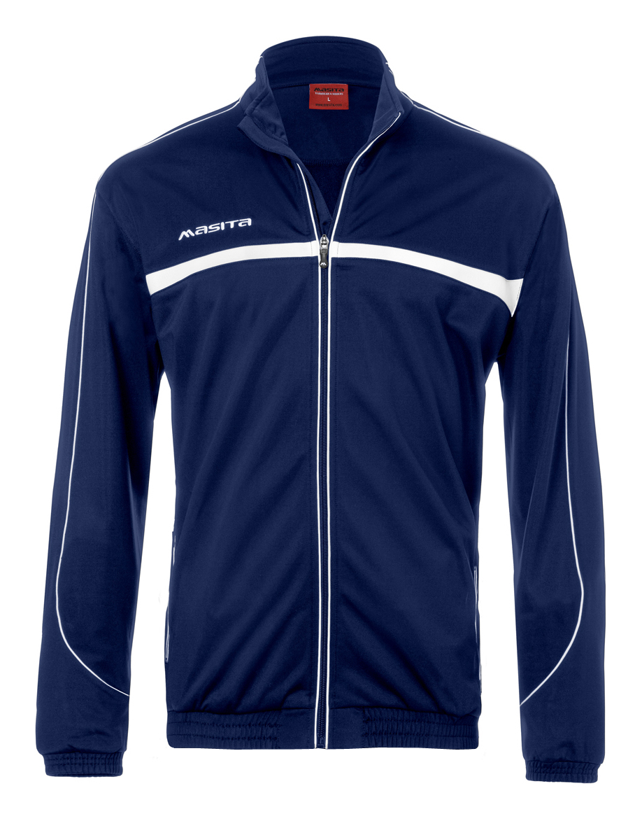 Polyester Jacket Brasil  Navy Blue / White