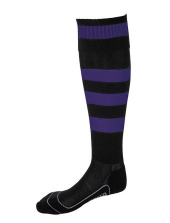 Socks Striped Barca  Black / Purple