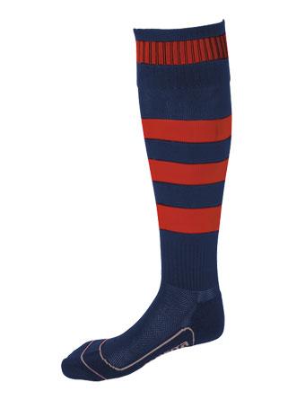 Socks Striped Barca  Navy Blue / Red