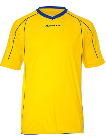 SportShirt Striker  Yellow / Royal Blue
