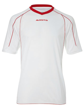 SportShirt Striker  White / Red
