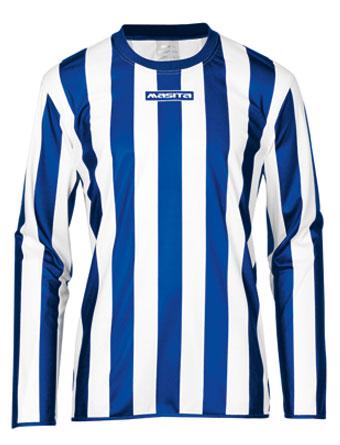 Long Sleeve SportShirt Barca  Royal Blue / White
