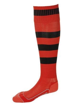 Socks Striped Barca  Red / Black