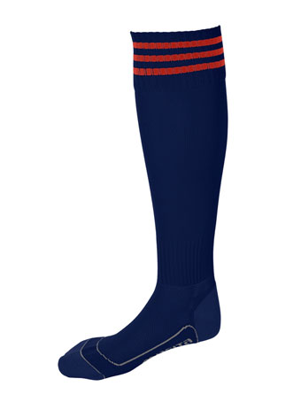 Socks 3 Stripes Liverpool  Navy Blue / Red