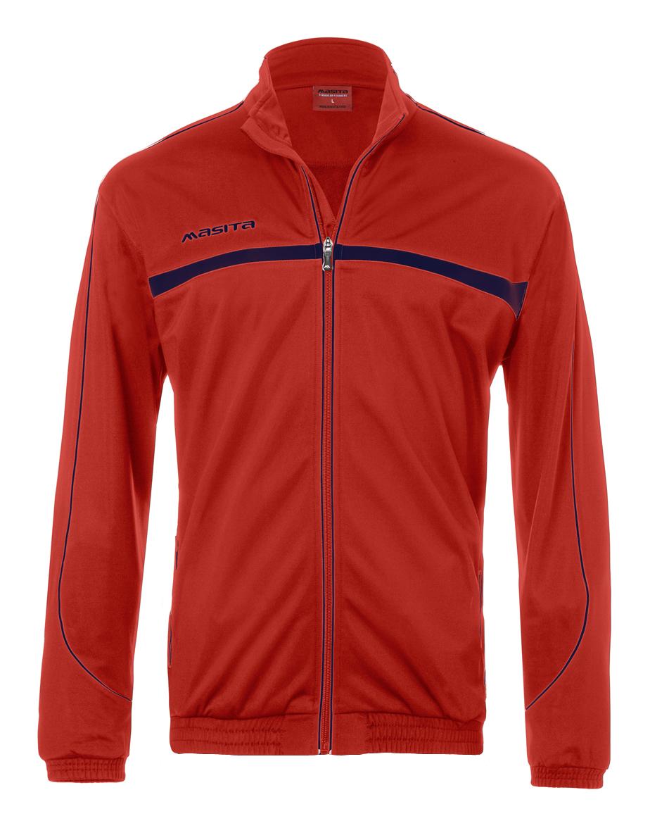 Polyester Jacket Brasil  Red / Navy Blue