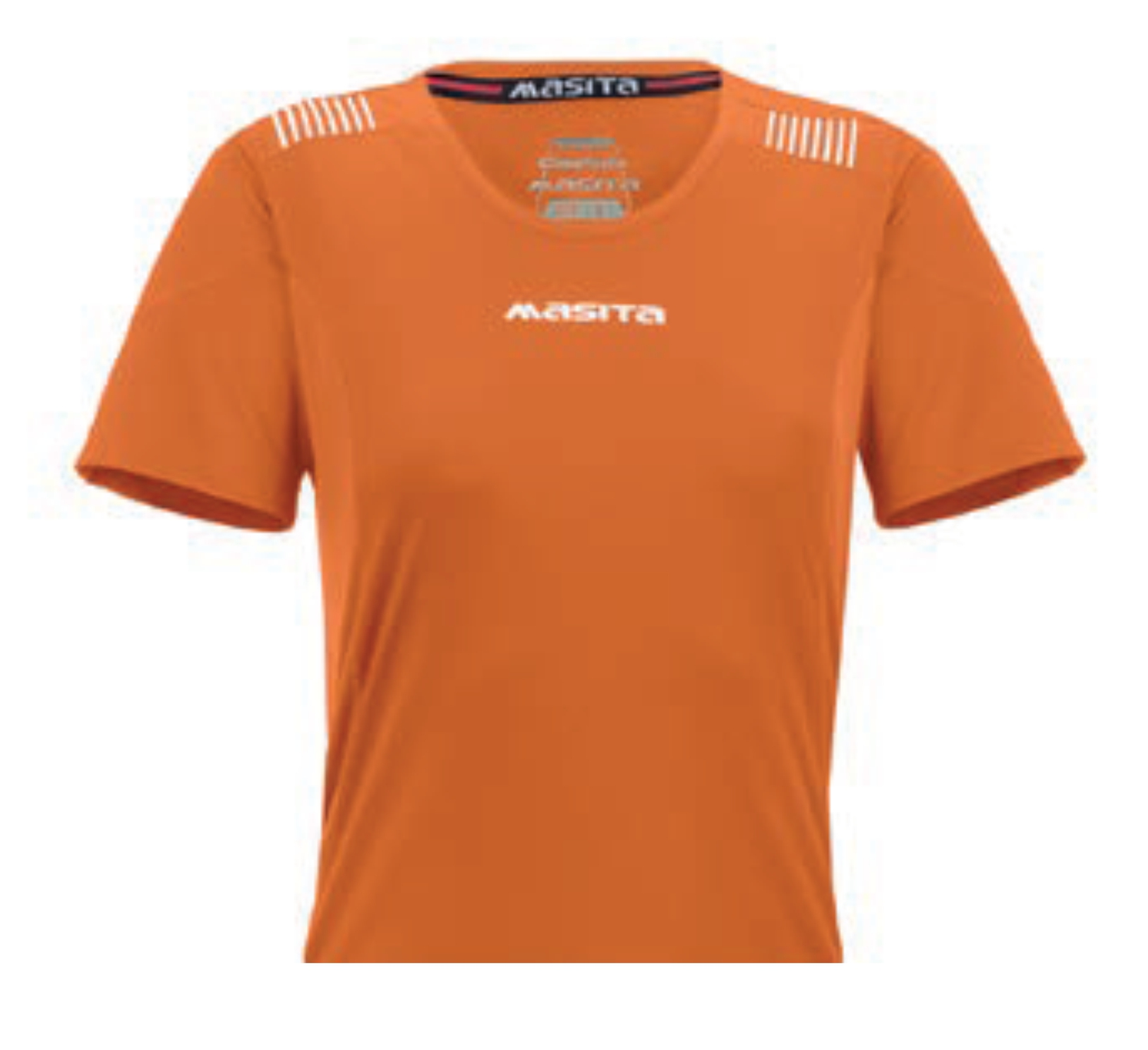 Ladies Shirt Porto Orange / White