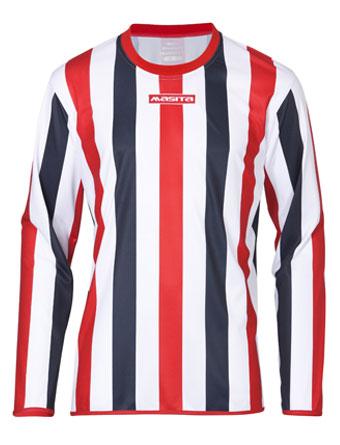 Long Sleeve SportShirt Barca  White / Navy Blue / Red