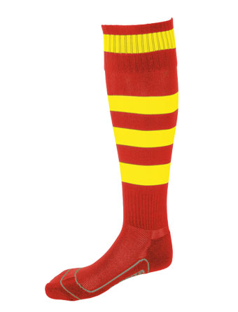 Socks Striped Barca  Red / Yellow