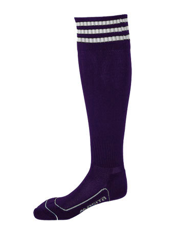 Socks 3 Stripes Liverpool  Purple / Violet / White