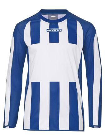 Long Sleeve SportShirt Inter  White / Royal Blue