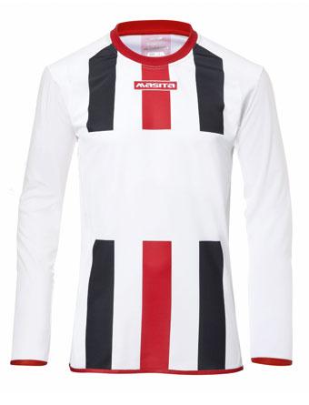 Long Sleeve SportShirt Inter  White / Navy Blue / Red