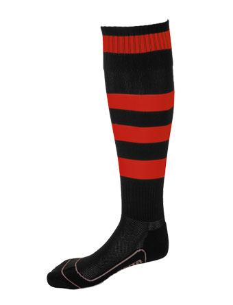 Socks Striped Barca  Black / Red