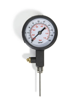 Ball Pressure Gauge  Black