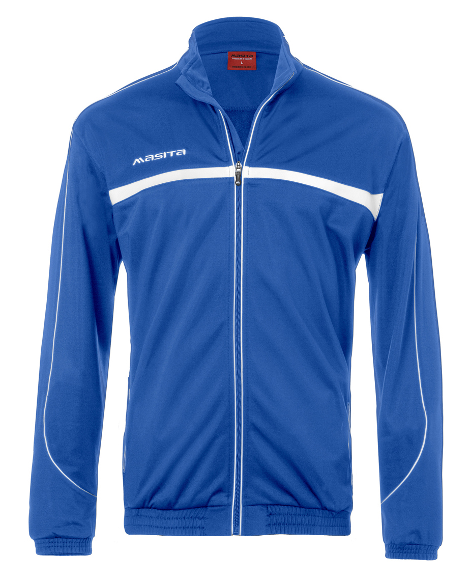 Polyester Jacket Brasil  Royal Blue / White