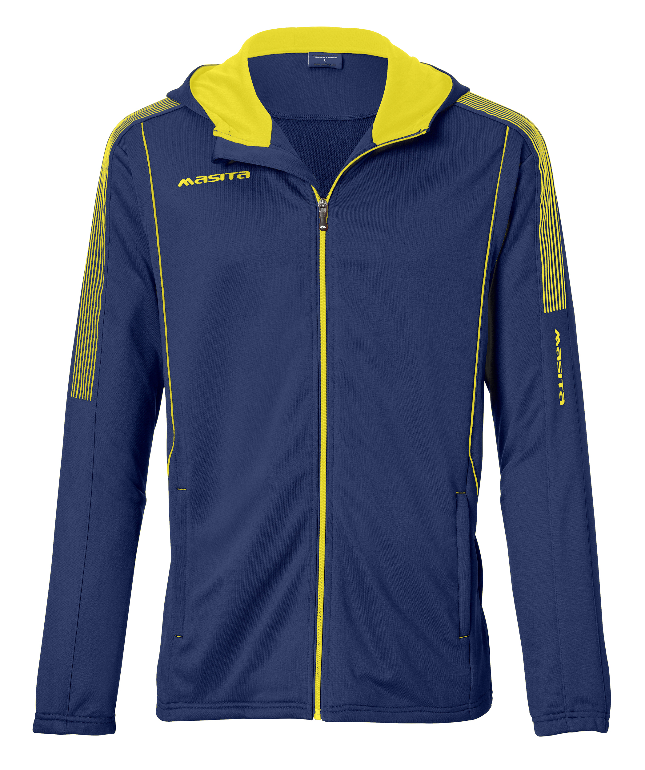 Hooded Jacket Barca  Navy Blue / Yellow