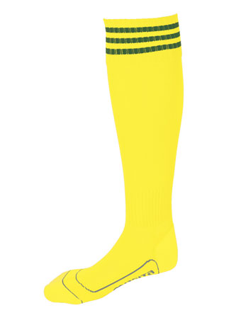 Socks 3 Stripes Liverpool  Yellow / Green
