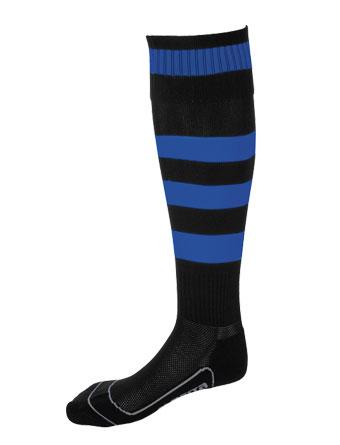 Socks Striped Barca  Black / Royal Blue