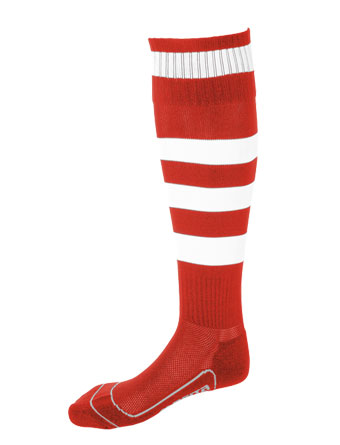 Socks Striped Barca  Red / White