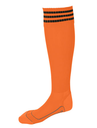 Socks 3 Stripes Liverpool  Orange / Black