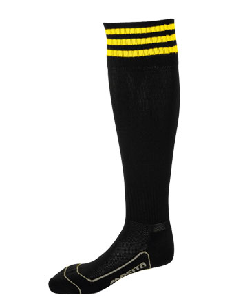 Socks 3 Stripes Liverpool  Black / Yellow