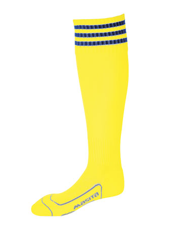 Socks 3 Stripes Liverpool  Yellow / Royal Blue